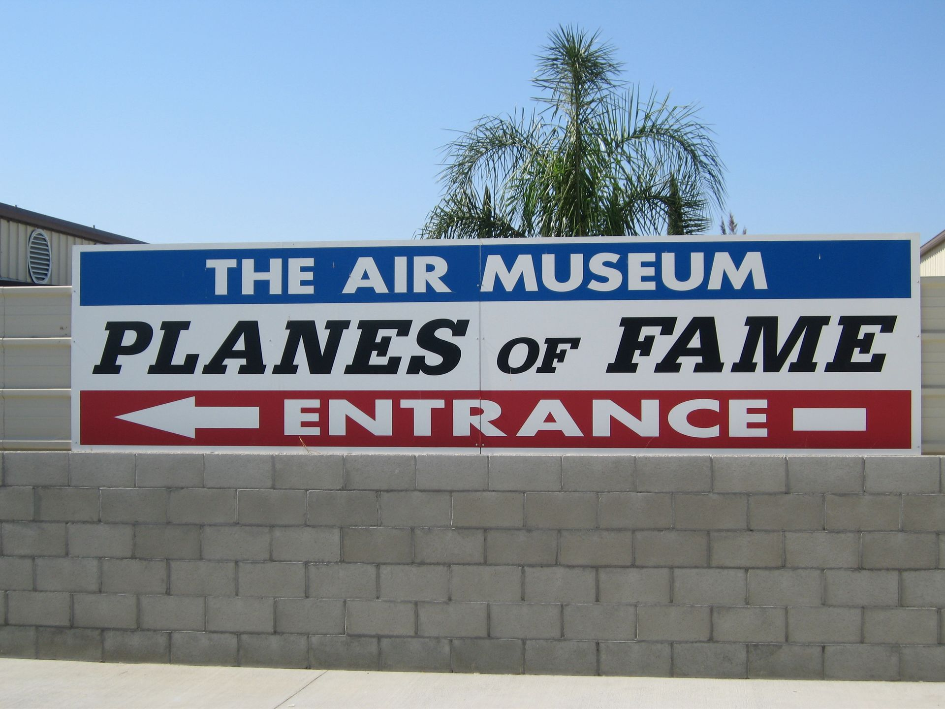 Planes of Fame Air Museum Front Sign