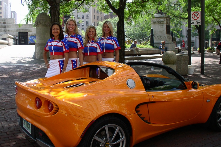 Chrome Orange Elise with Track Girls