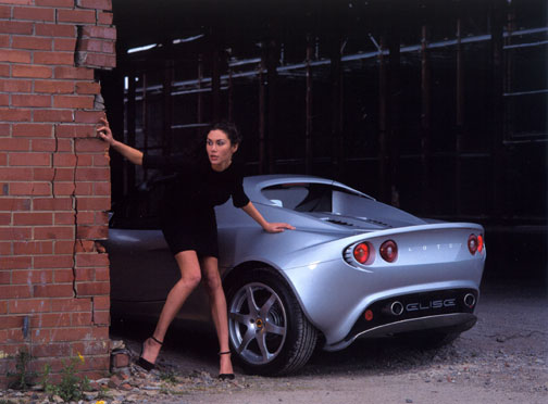 Secret Agent girl with Lotus Elise