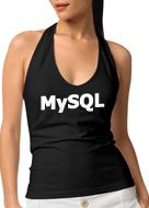 mysql girl in black halter top