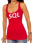 sql girl in halter top